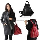 Vintage  Women Girls PU Leather Backpack Schoolbag Handbag Shoulders Bag