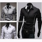 Boy Men's Luxury Casual Formal Shirt Long Sleeve Slim Fit Business Dress Shirts