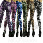 Sexy Women Punk Rock Skull Leggings Stretchy Jeggings Pencil Tights Pants