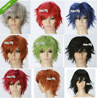 5 Colors New Fashion Short Wig Cosplay Party Straight Layered Wig Full Wig/Wigs