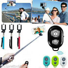 Monopod Telescopic Pole+ Bluetooth Remote Shutter Self-timer for iPhone Camera