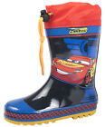 Disney Cars Lightning McQueen Rubber Snow Boots Wellies Wellingtons Size 5-11.5