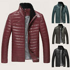 Business Mens 100% A-Grade Sheep Leather Wool Fur Collar Down Jacket Warm Coat