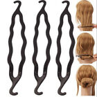 3 X Hair Twist Styling Clip Stick Bun Maker Braid Tool Hair Accessories Black