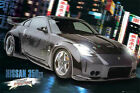 Fast And The Furious Nissan 350ZX Film-Movie-Poster + Rahmen Kunststoff MDF Alu