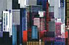 New Colourful Skyscrapers Metropolitan Montage Mini Wall Mural