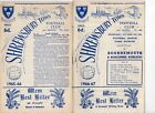 Shrewsbury Town HOME programmes 1965/66 and 1966/67 FREE P&P UK Choose from list