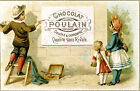 Vintage 'Poulain'  French chocolate  print poster, large 4 sizes available