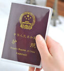 Clear Transparent Passport Cover Holder Case Organizer Travel ID Card Protector
