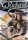 Vintage French G Richard Bicycle ad print poster, large 4 sizes available