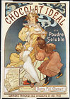 Vintage French 'Chocolat Ideal' ad print poster, large 4 sizes available