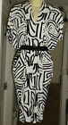 NEW FEARNE COTTON AFRICAN PRINT BLACK & WHITE DRESS   Size 6, 8. 10