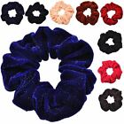 Glitter Velvet Elastic Fabric Hair Ties for girls Bridal hair accessories