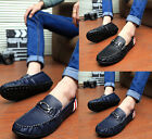 Casual New Men's Suede Lace-up Slip On Loafer Shoes Moccasins Driving Shoes T161