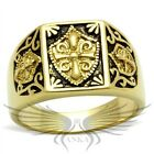 Men's Masonic Freemason Ring Gold Plated Knights Templar Coat Of Arms TK127G *