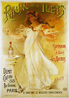 Vintage Rhum Des Ilets French  print poster, large 4 sizes available