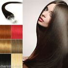 16''-20''Human Remy Hair Extensions Easy Loops Tip Micro Ring Straight Hair 100S