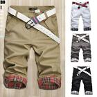 Hot Men's Shorts Chino Cargo Casual Summer Work Combat Nice Pants Trousers Stock