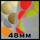 48mm Circular Colour  Stickers /  Labels   Coloured Labels