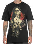 Sullen Clothing Letter Mens T Shirt Black Gothic Tattoo Tee