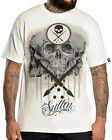 Sullen Clothing Josh Payne Mens T Shirt White Skull Tattoo Goth Tee