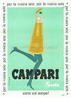Vintage Campari Soda print poster, large 4 sizes available
