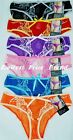 LOT OF 6 pcs SEXY LADY'S MESH BIKINI PANTIES W/ LACE S/5 M/6 L/7 XL/8 #LB7234