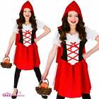 New Little Red Riding Hood Kids Girls Book Day Storybook Costume Sizes 3-13 Yrs