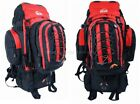 Camping Rucksack Backpack Hiking Detachable Day Back Pack Bag Red Large 50L New
