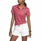 Nike Women's Dri-Fit Graphic Golf Polo Shirt-Coral