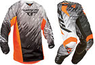 NEW 2015 FLY RACING KINETIC GLITCH MX PANT JERSEY COMBO BLACK ORANGE ALL SIZES