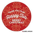 PERSONALISED Christmas Bag Present Sticker Labels | Xmas Business Snow | Herald