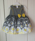 GIRLS DRESS BABY TODDLER CHILD OUTFIT DAISY POLKA BOW WEDDING CHRISTENING PARTY