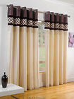 SAVE 40% on MRP FAUX SILK CURTAINS PURPLE & CREAM EYELET.NEXT DAY DELIVERY