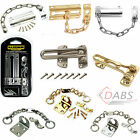 Extra Strong Door Security Chain, Latch, Restrictor Brass Polished Chrome Silver