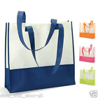 Large Lightweight BEACH BAG - TWO-TONE SUMMER TOTE SHOPPING SHOPPER HANDBAG
