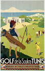 Vintage Tunisia Golf Travel Ad print poster-4 large sizes available