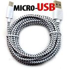 LOT Braided Micro usb data sync cable cord 3,5,10 FT for Android Cell Phones