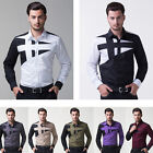 CHEAP SALE Men's Fashion Long Sleeve Slim Fit Formal Work Casual Dress Shirt Top