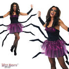Halloween Black Widow Spider Ladies Fancy Dress Costume Size 8-18
