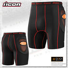 Icon Stryker Underwear D3O Armor CE Rated Motorcycle Under Shorts