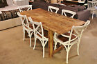 Farmhouse Style Rough Rustic Finish Dining Table - Recycled Oregon Timber