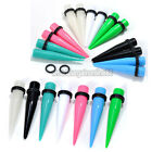 Pair Acrylic Tapers Ear Plug Gauges Expander Stretcher Pick Size Colors Piercing