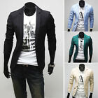 TOP SALE !! Suits Mens Slim fit Fashion One Button Blazers Coat Jackets Clubwear