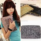 Chic Womens Ladies Sequin Clutch Bag Evening Party Mini Purse Bag FST