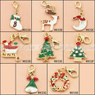 1X Christmas Clip On Charms Dangle Pendant Fit Living Memory Lockets Link Chain