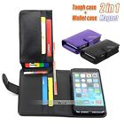 2 in 1 Magnet Wallet Flip Leather Case Cover For Apple iPhone 6