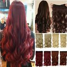 """Long 17-27"""" Clip in on Hair extensions Curly/Wavy/Straight One Piece 50Colors aa"""