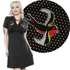 Rosie Sparrows Dress Retro Pin Up Vintage Rockabilly Alternative Punk Polka Dot