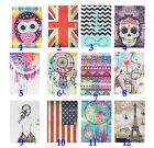 Luxury Cute Slim Multicolour Printed Leather Case Smart Cover Stand For Tab